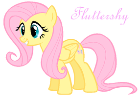 Adorable Fluttershy by TheDasherGirl