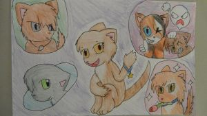 Sky Clan Cats by LostPlanetVoltia