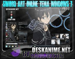 Kirito Theme Windows 7 by Danrockster