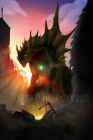 *COMMISSION* Olragon Cover Art by SeanSumagaysay