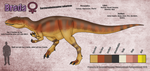Breda the Carcharodontosaurus Ref Sheet by SergeanTrooper