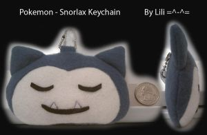 Snorlax Head Plush Keychain by LiliNeko