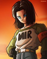 Android 17 - Dragon Ball Super Fan Art by TomislavArtz