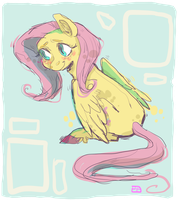 fluttershy by hahasauce