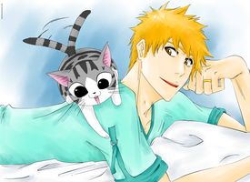 Ichigo and Chi by Basylea