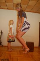 Tall Baltic girl crouch by lowerrider