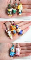 Animal Crossing Charms by whitefrosty