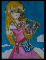 skyward sword zelda by northernlightsky