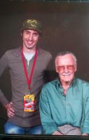 Stan Lee and Pharaohmone: Two skinny kids from NYC by Pharaohmones