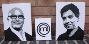 Masterchef Spraypaint Stencil on Canvas by RAMART79
