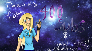 Thanks for 400 Watchers + Subs! by 11IceDragon11