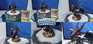 $COM Skylander Sculpture:: Red Eyes Black Dragon by Neffertity