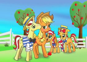 My sweet Apple family by raggyrabbit94