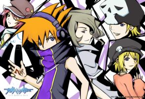 TWEWY - Black-Purple-White by konallei