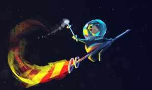 Astronaut Wizard by stroz