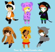 Hoodie Adoptables 2 Points Each (CLOSED) by DetritusDroid