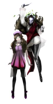Me and my persona _Done_ by OoAmmyoO