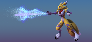 Renamon attack -ICE- by Aurelio-hl2