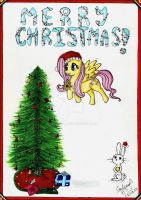 Fluttershy Christmas by stefou98