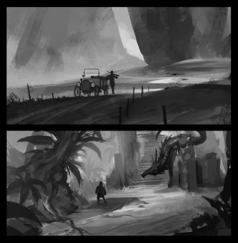 Environment Sketches Comp by JohnoftheNorth