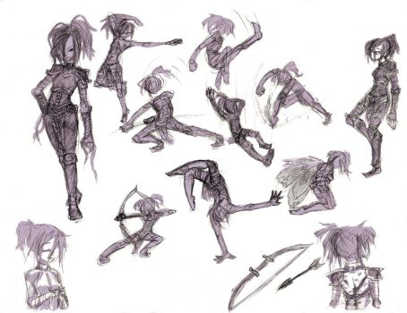 older Serena fighter +dynamic poses by Xilent-Knights