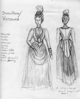 Steampunk formal wear by Goldenspring