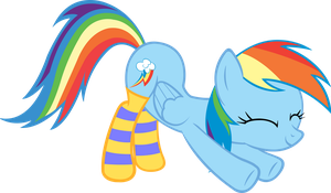 Rainbow Dashie in Socks by ArtPwny