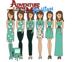 Adventure time fashion: BMO by Willemijn1991