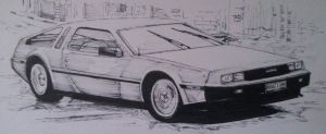 DeLorean DMC-12 Manga style by And300ZX