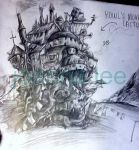 Howl's Moving Castle Sketch by joanna-lee