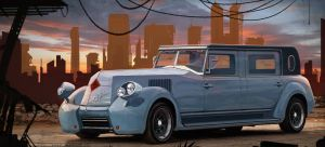 retro car restyling by Or1s