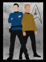 Spock and Kirk - Vector Art by xxkenziex