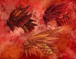 Fire Dragons by Ultyzarus