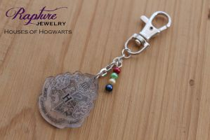 Houses Of Hogwarts Key Chain by RaptureJewelry