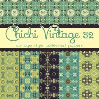 Free Chichi Vintage 32 Patterned Papers by TeacherYanie