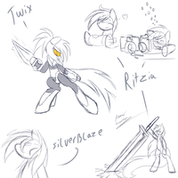 more sketches by Silverfox057