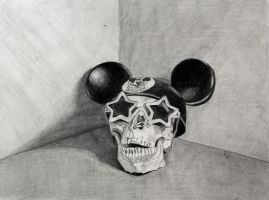 DRAWING I graphite skull by numberoneblind