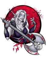 Blood Death Knight by VenneccaBlind