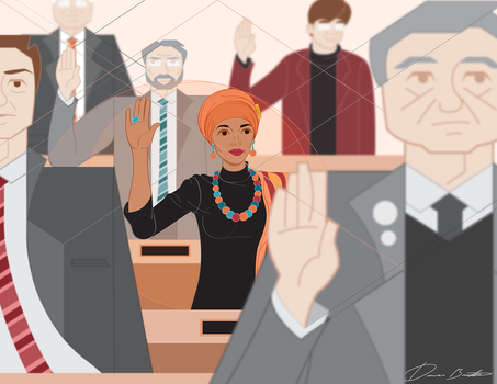 The Swearing in of Ilhan Omar by sir-rudolph