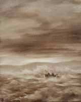Stormy Sea oil paint by Boias