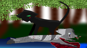 Ashfur's Death by ScourgesKit
