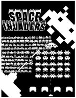 Arcade Posters- Space Invaders by Bobman32x