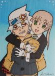 Soul and Maka ACEO card by LadyNin-Chan