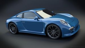 Porsche rendering with cycles by koleos33