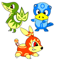 My Pokemon 5th Gen Starter's by Stv-Hktk