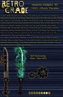 Retrograde Weapon/Gadgets: # 3 by shadefalcon