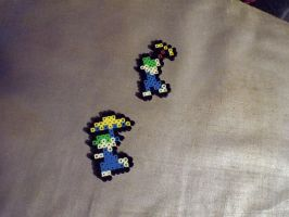 Lemming Bead Sprites by SerenitySaz