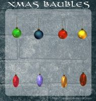 3D Xmas Baubles by zememz