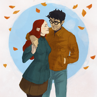 James and Lily in autumn by Noctuam