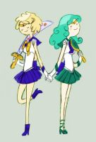 AT Cross Over: Sailor Lesbians by Peppermint-Biscuit